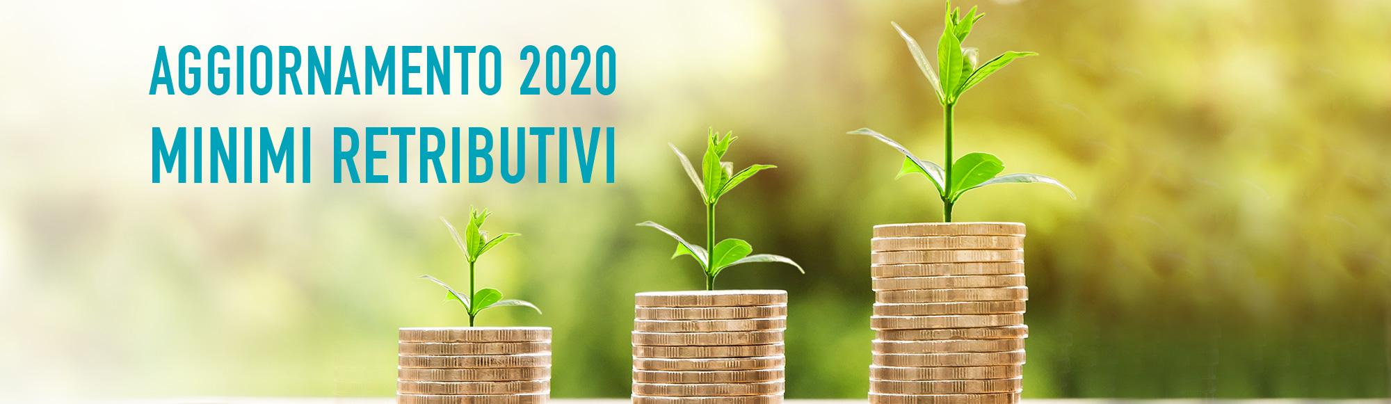 Aggiornamento minimi retributivi 2020