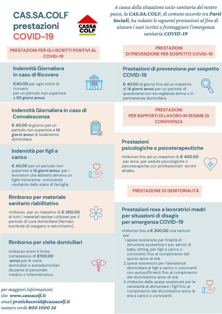 infografica prestazioni Cas.Sa.Colf Covid-19