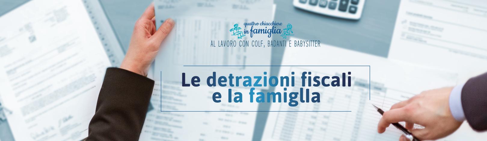 Detrazioni fiscali e famiglie